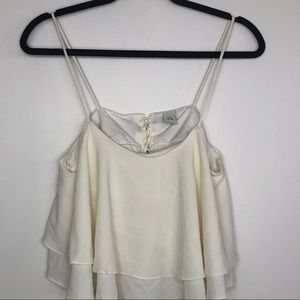 Paper Crane Cropped double layer sheer tank Small
